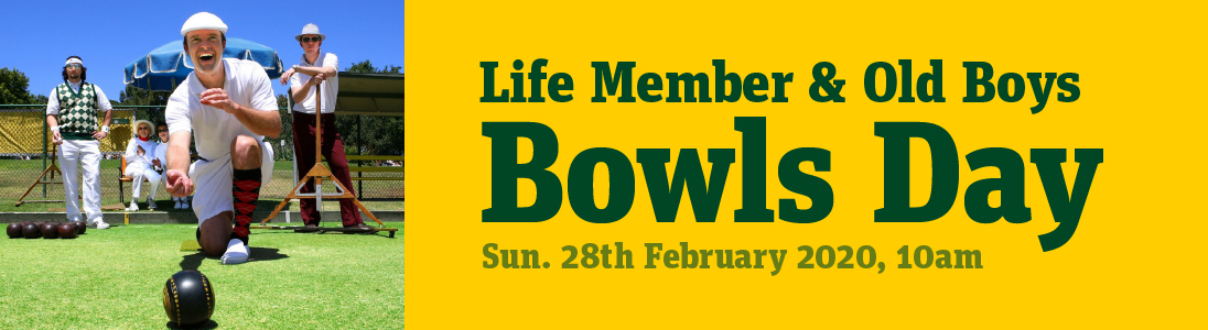 Life Members  & Old Boys Bowls Day
