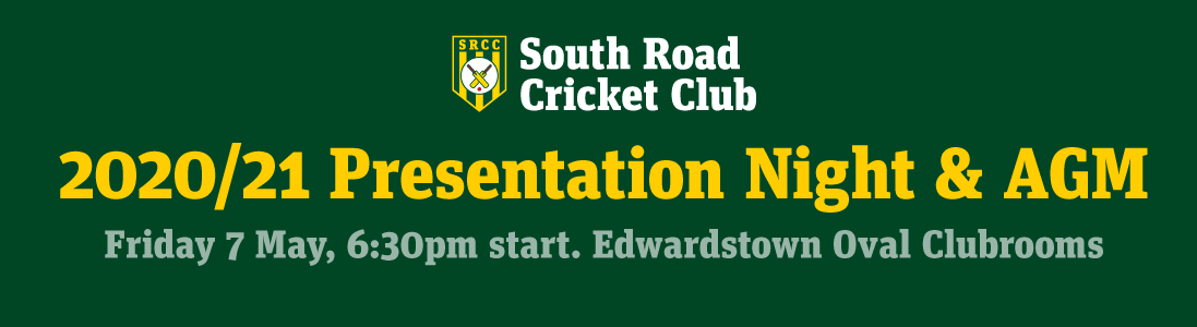 SRCC Presentation Night and AGM, Friday 7th May 2021